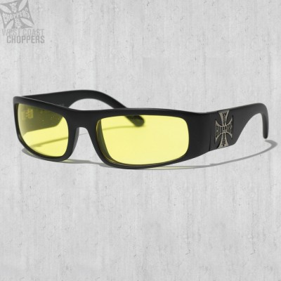 Brýle WEST COAST CHOPPERS- ORIGINAL CROSS, YELLOW LENSES