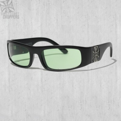 Brýle WEST COAST CHOPPERS- ORIGINAL CROSS, GREEN LENSES