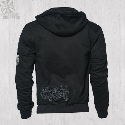 "WEST COAST CHOPPERS - MIKINA S KAPUCÍ NA ZIP ""CHOPPERS POR VIDA HOODY BLACK"""