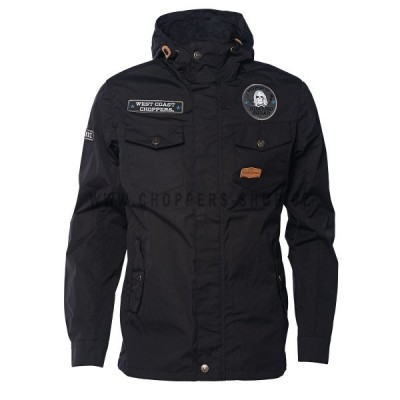 WEST COAST CHOPPERS - WCC HIPPY HUNTING SQUAD SUMMER PARKA BLACK