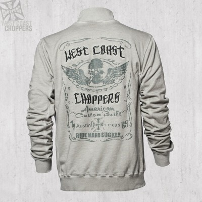 WEST COAST CHOPPERS - MIKINA RIDE HARD SUCKER ZIP VEST VINTAGE GREY