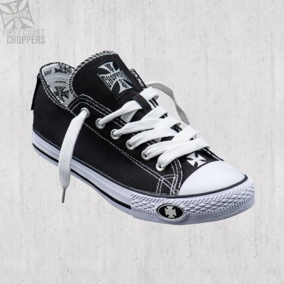 "WEST COAST CHOPPERS - BOTY ""WARRIOR LOW TOP"" - ČERNÉ"