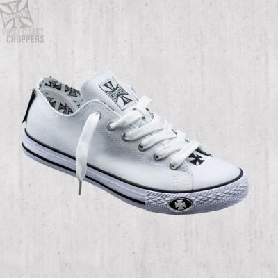 "WEST COAST CHOPPERS - BOTY ""WARRIOR LOW TOP"" - BÍLÉ"