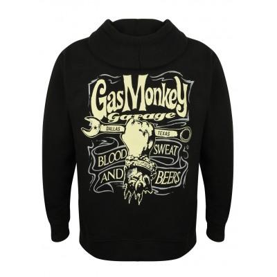 GAS MONKEY GARAGE- MIKINA NA ZIP HAND & SPANNER