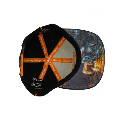 ORANGE COUNTY CHOPPERES- KŠILTOVKA Acrylic Snapback Black, Grey & Orange OCC Paul Senior Cap