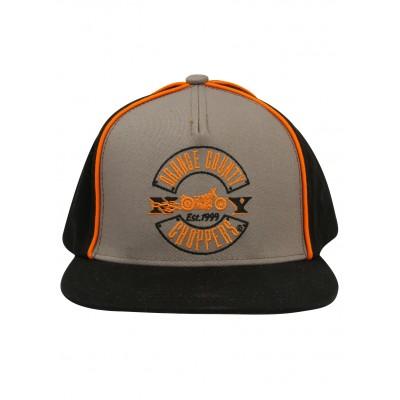 ORANGE COUNTY CHOPPERES- KŠILTOVKA Acrylic Snapback Black, Grey & Orange OCC Paul Senior Cap