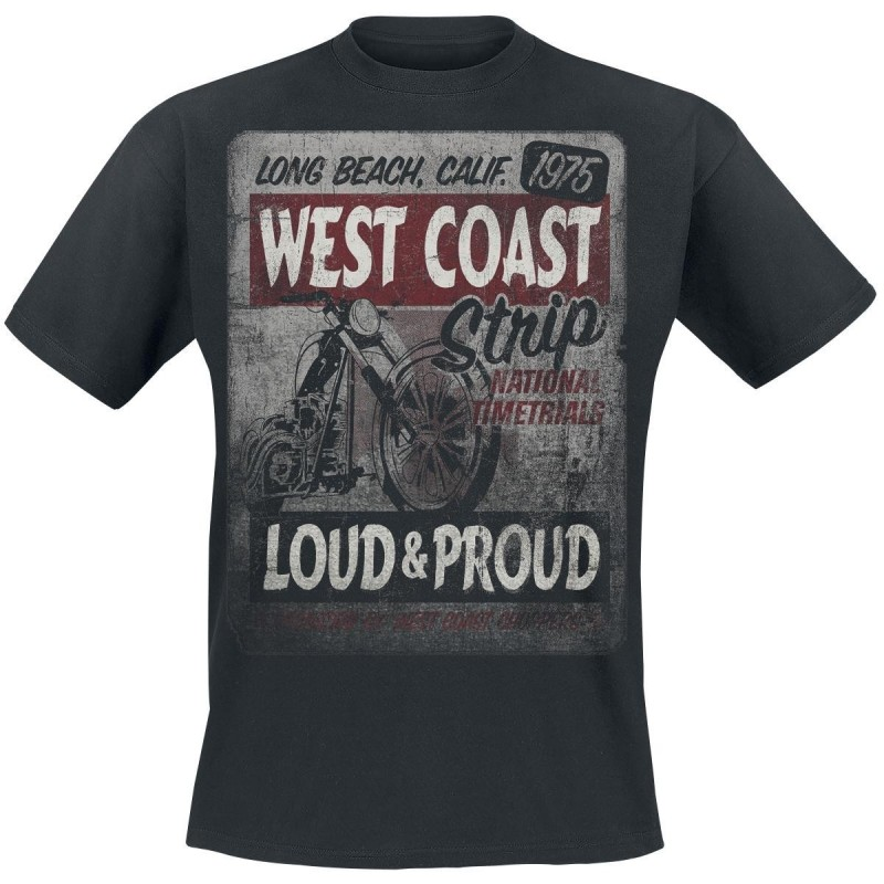 "WEST COAST CHOPPERS TRIKO - ""STRIP BLACK"""