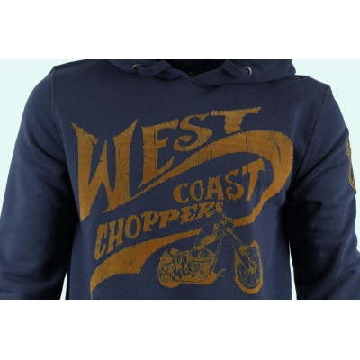WEST COAST CHOPPERS MIKINA - CHOPPERS FOR LIFE HOODY - NAVY