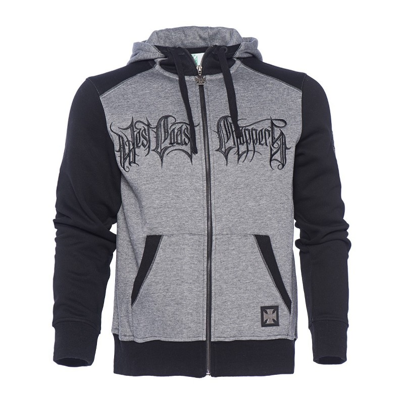"WEST COAST CHOPPERS  MIKINA - ""WCC-OG CROSS ZIP HOODY"""