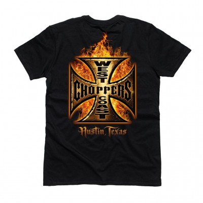 "WEST COAST CHOPPERS TRIKO - ""WCC-IN FLAMES BLACK"""
