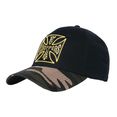 WEST COAST CHOPPERS-KŠILTOVKA CAMOWARRIOR HAT