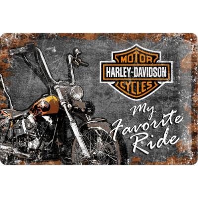 Plechová cedule - Harley...