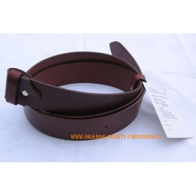 Kožený pásek- hnědý