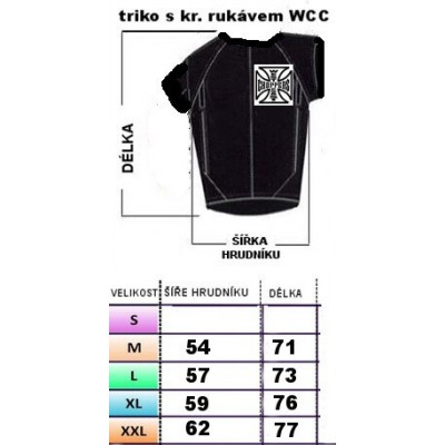 WEST COAST CHOPPERS- TRIKO S KR. RUKÁVEM WCC